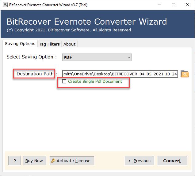 change ENEX to PDF