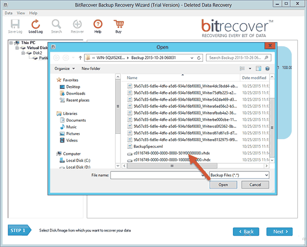 BitRecover Windows Backup Viewer