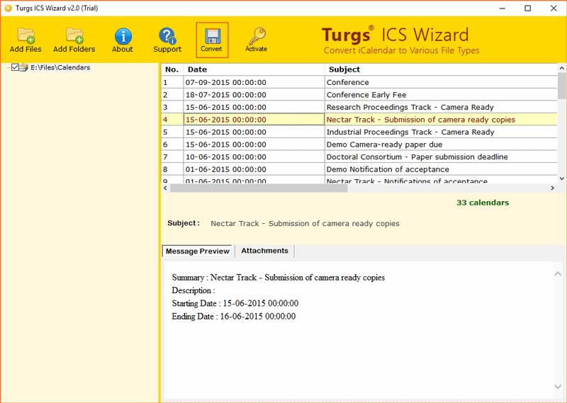 convert ics file to pdf online free