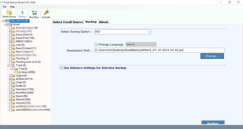 cara backup email gmail ke pc di