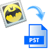 convert bat emails to pst