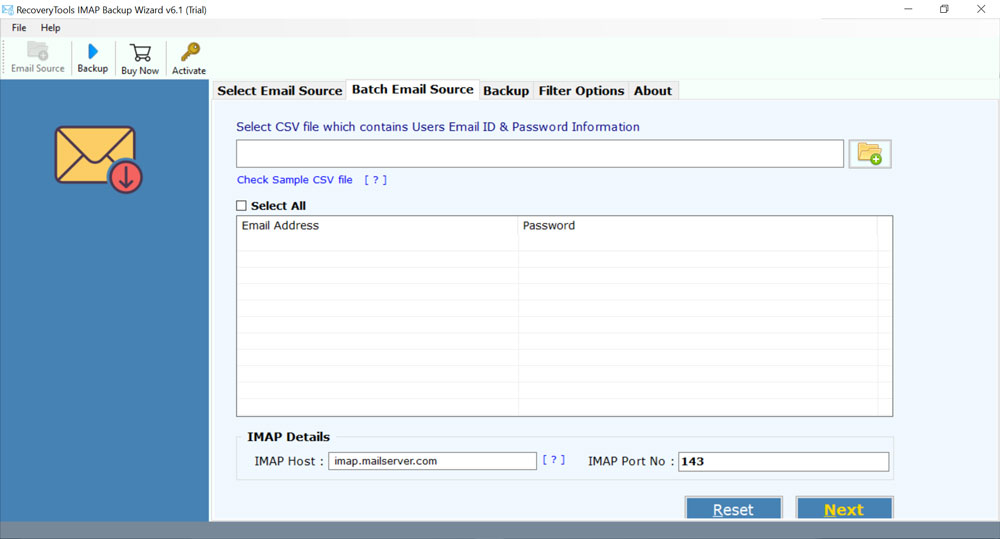 hMailServer user accounts to Outlook