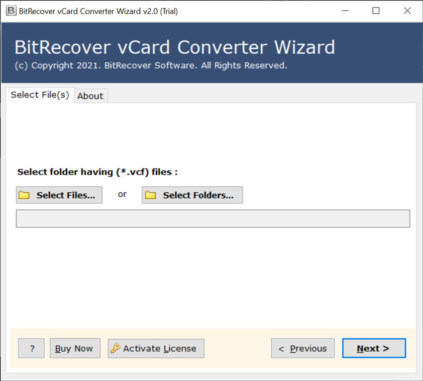 select the vCard or VCF file
