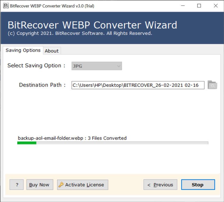 WEBP to JPEG Conversion