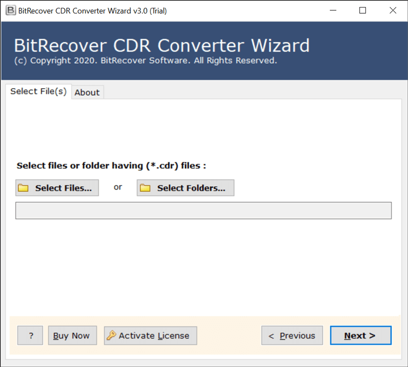 BitRecover CDR Converter Wizard