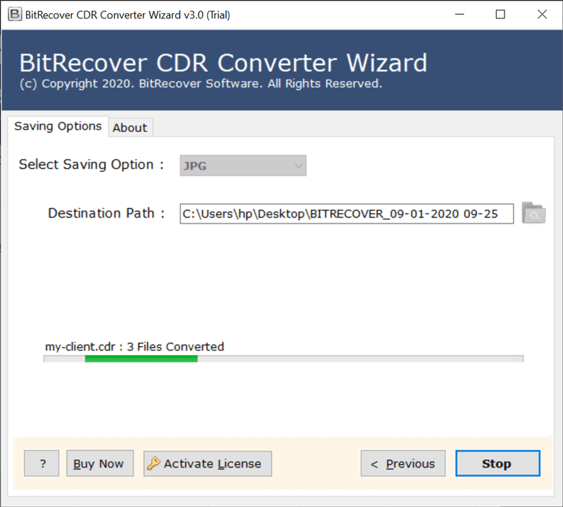 CDR file conversion