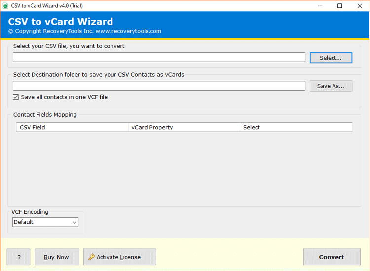 csv to vcard converter software free download