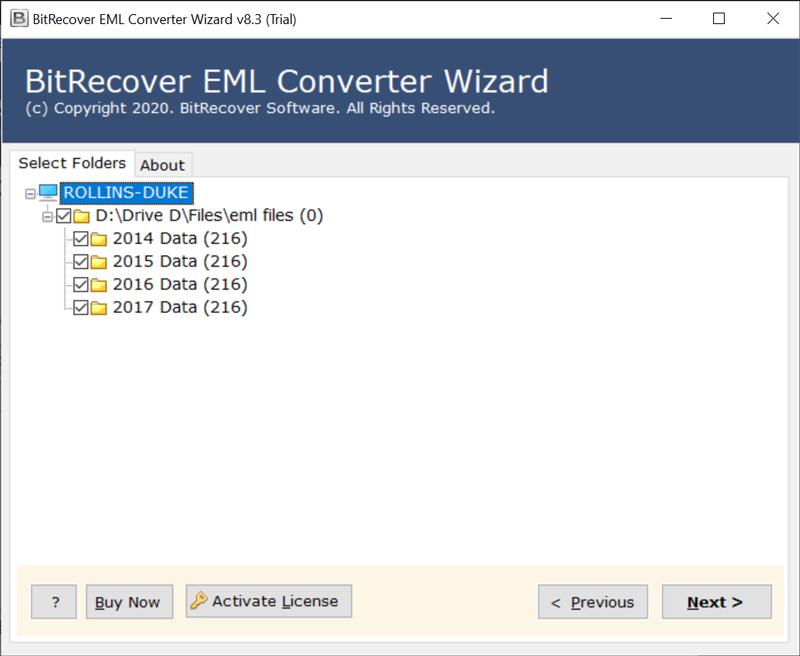 select eM Client folders