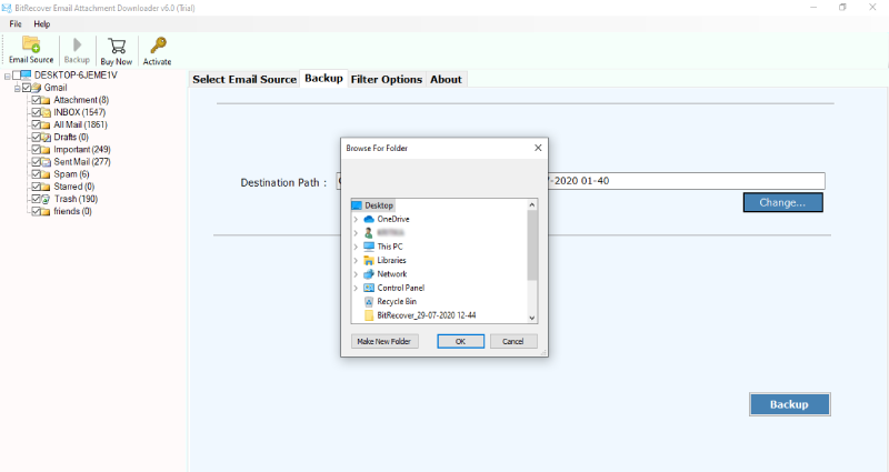 save cox mail attachments