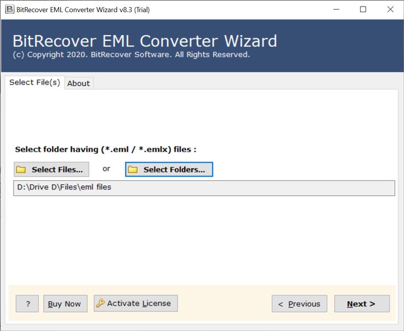 select EML files