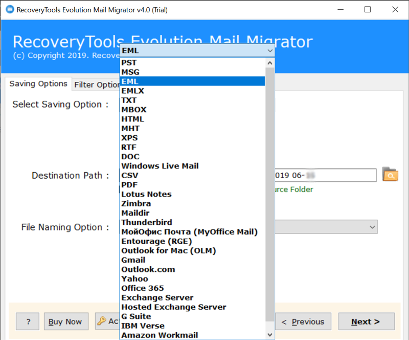 Evolution Converter to Export Evolution Mail to Outlook PST