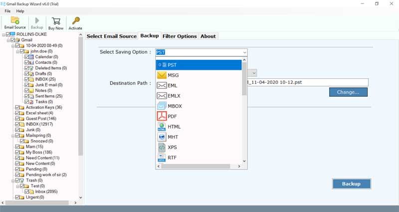 required email folders