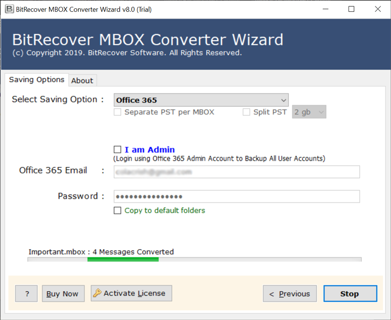 mbox to office 365 migrator