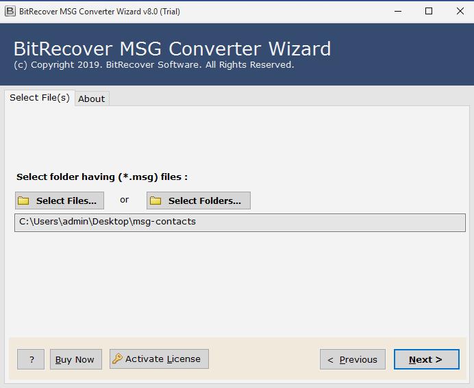 MSG 파일 선택