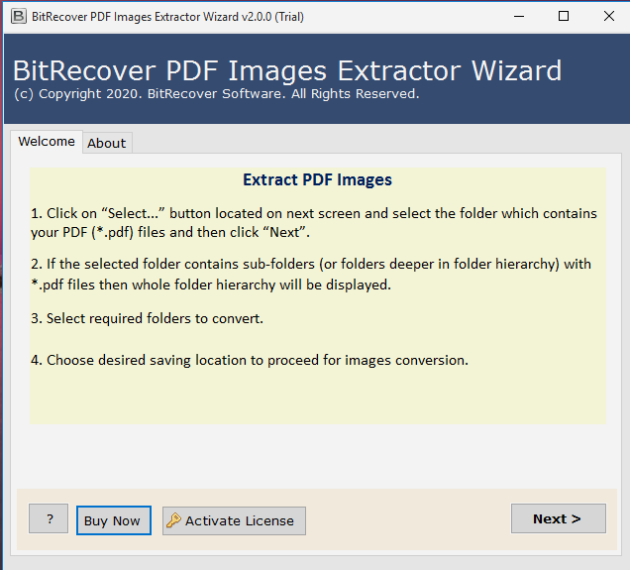 BitRecover PDF Image Extractor Wizard