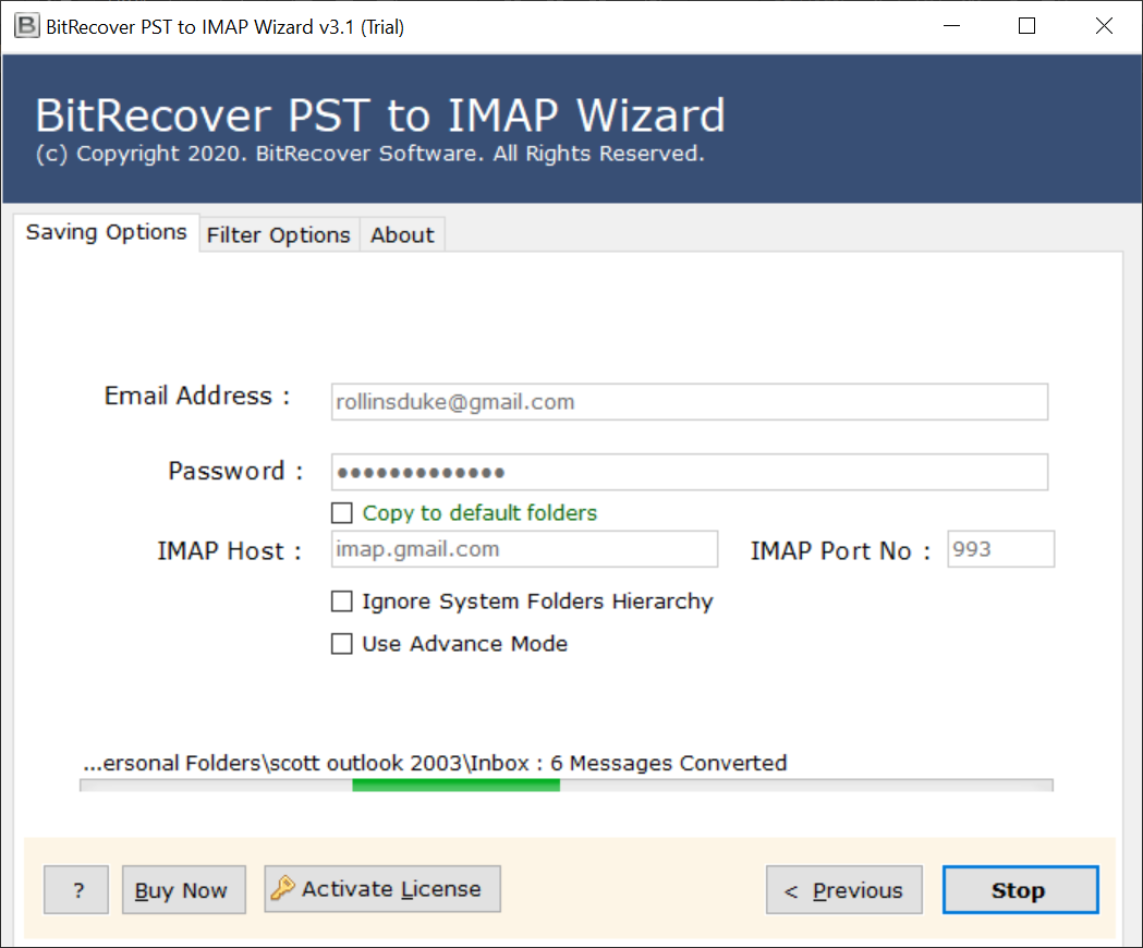 how to import pst file into webmail