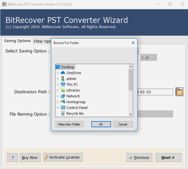 Convert Outlook PST to Horde Webmail