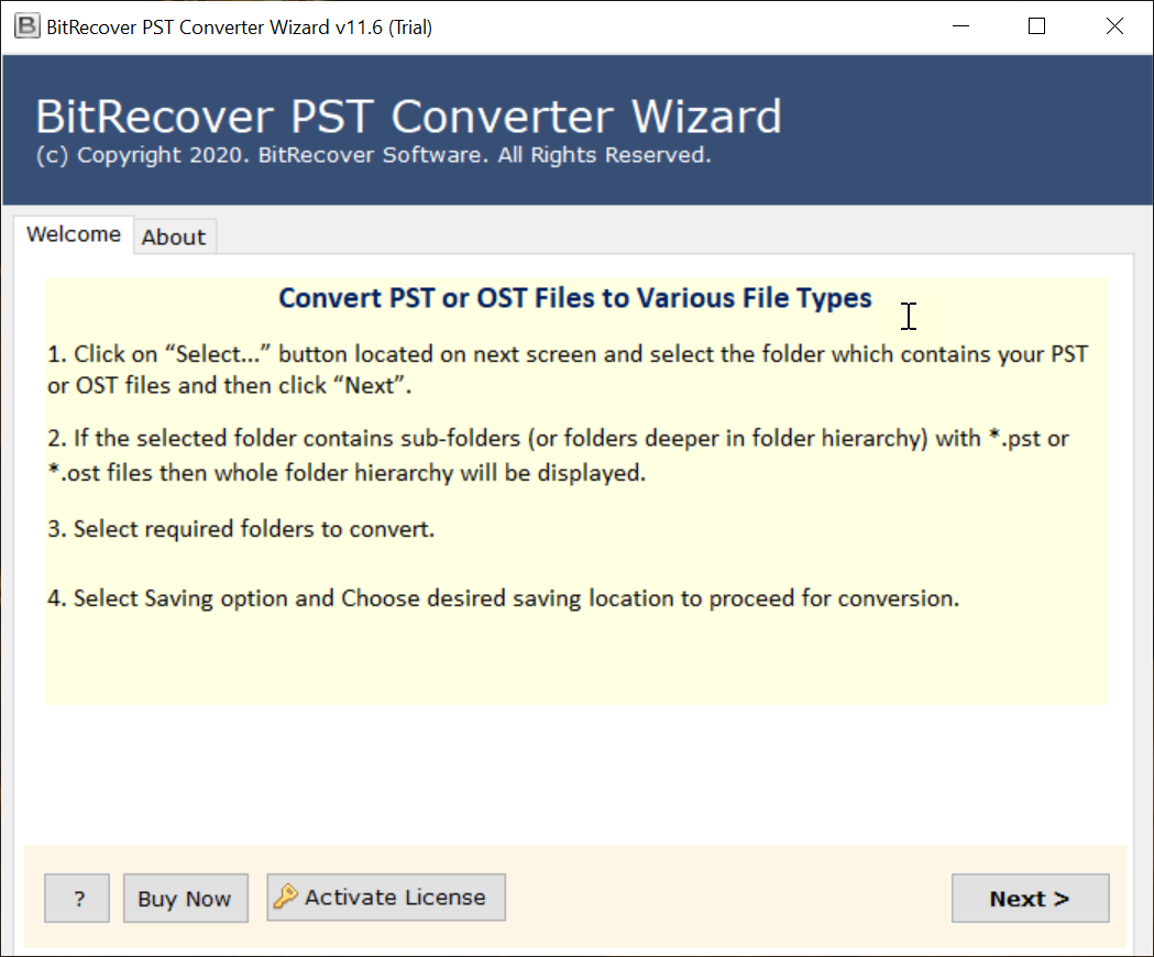BitRecover PST to Office 365 Converter Wizard