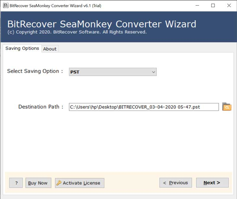 export SeaMonkey mail
