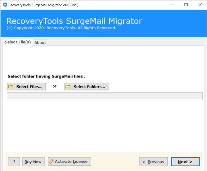 backup SurgeMail emails