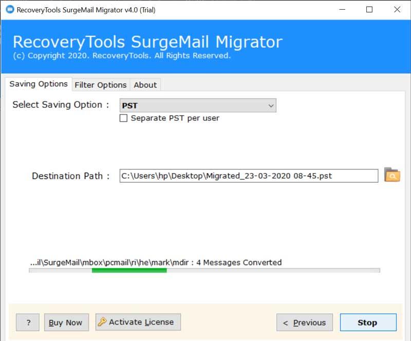 SurgeMail Backup Tool