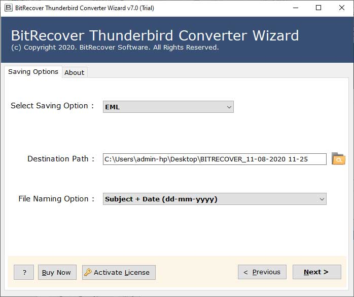Convert Thunderbird data