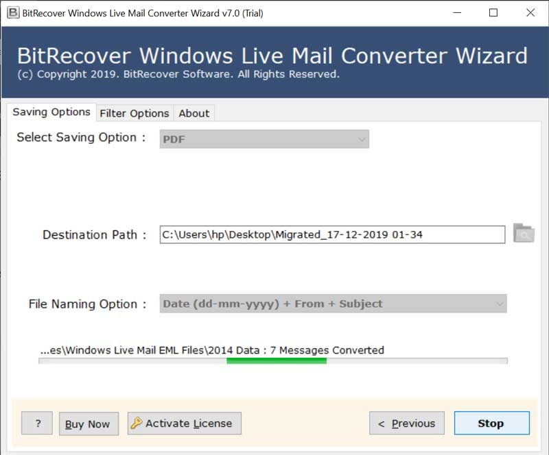 Transferring Windows Live Mail emails