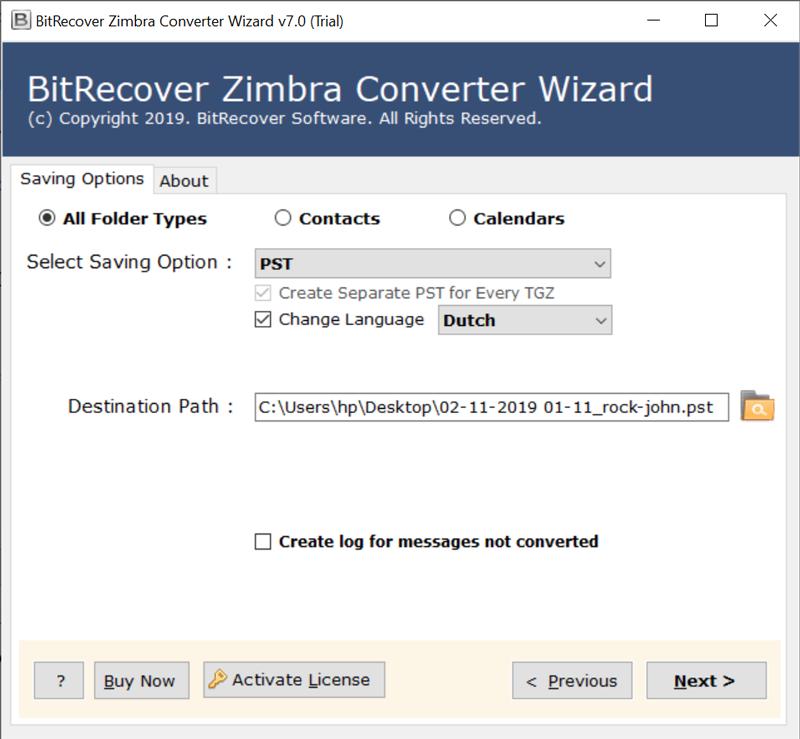 Zimbra Converter Tool to Migrate & Export Zimbra TGZ Files — BitRecover™