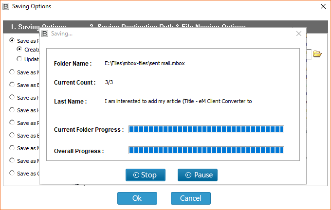 import emails in Outlook