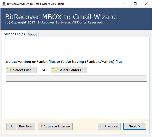 BitRecover MBOX to Gmail Wizard