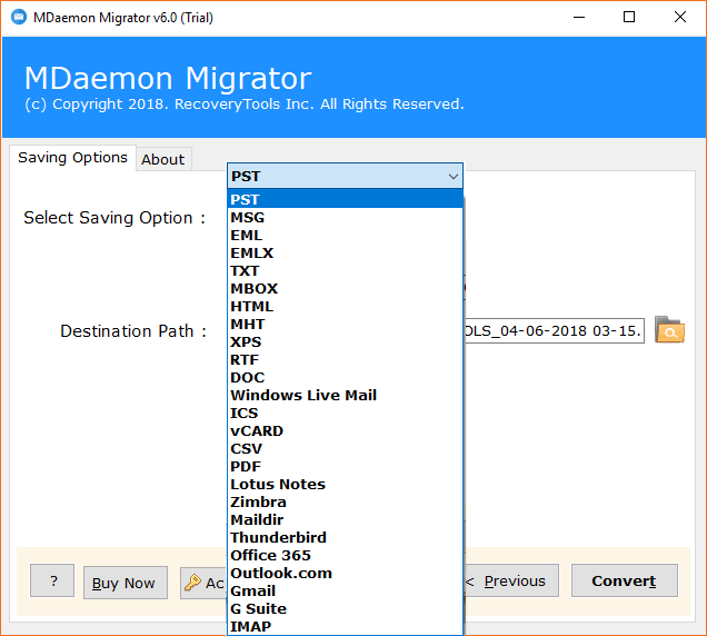 MDaemon Contacts Saving to CSV and vCard