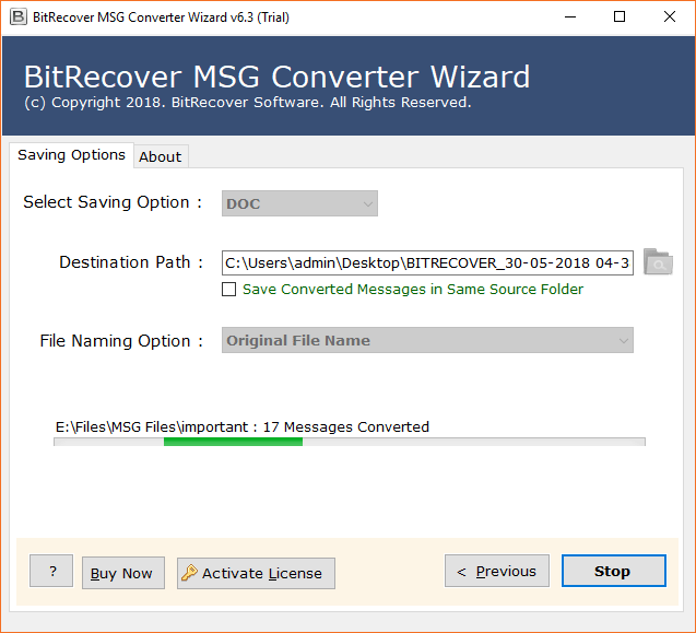 Convert tab