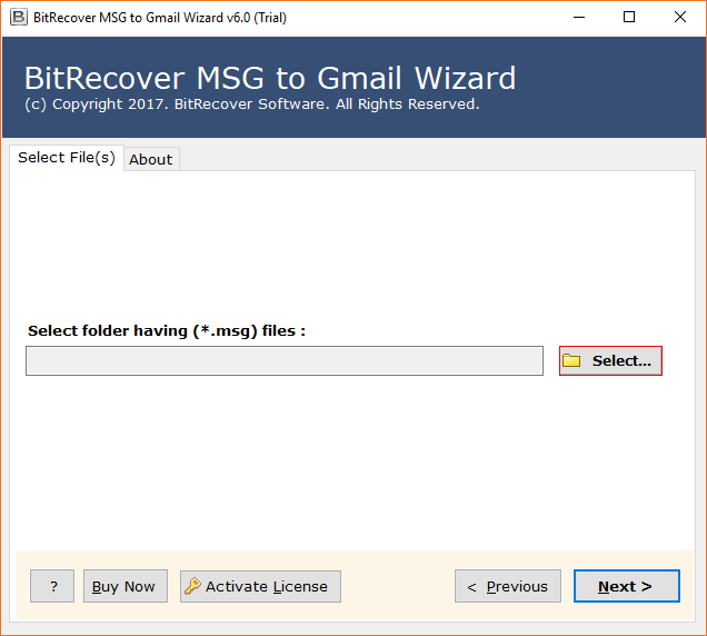 Open MSG File in Gmail Account