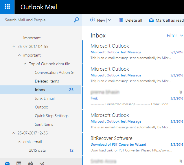 Office 365 webmail