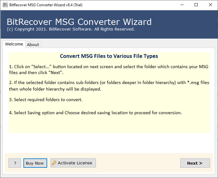 MSG to VCF File Converter  software