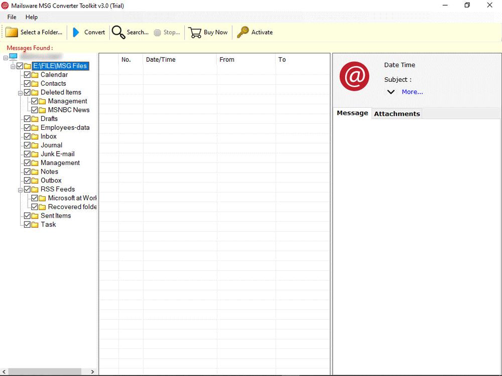 MSG file reader
