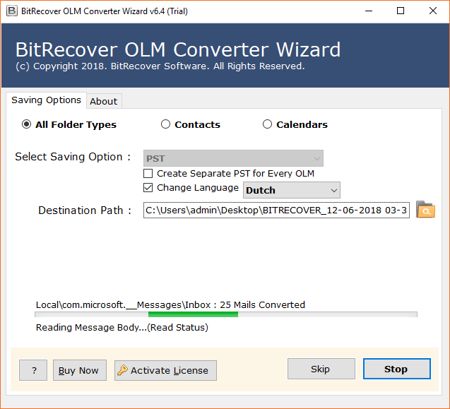 Convert OLM to Outlook