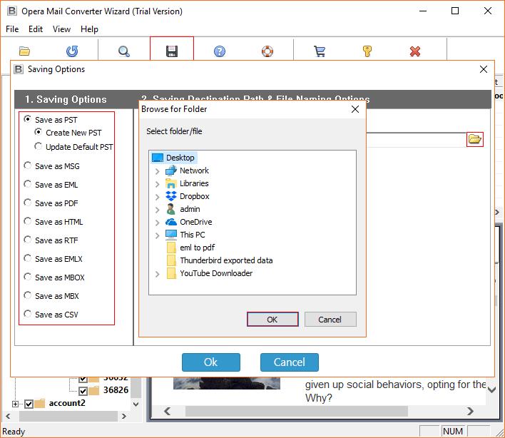 Opera Mail storage location