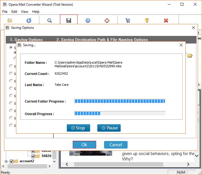 Backup and restore Opera Mail