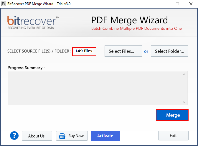 Merge PDF documents without acrobat