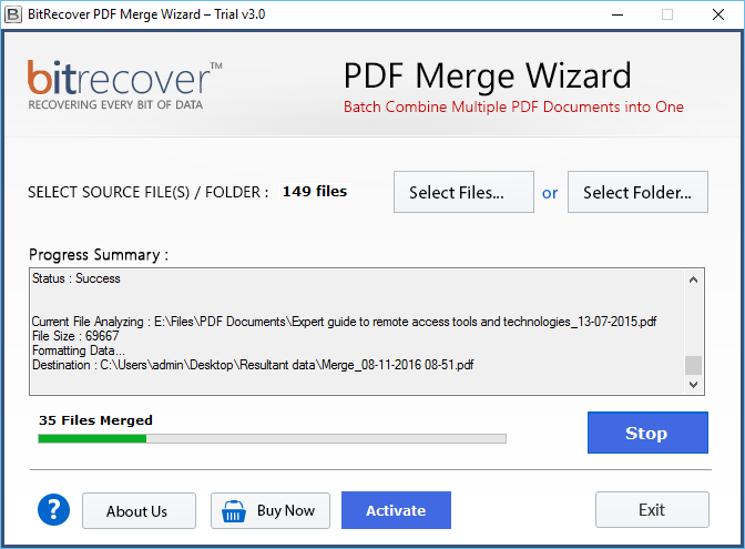 merge PDF files without Adobe Acrobat