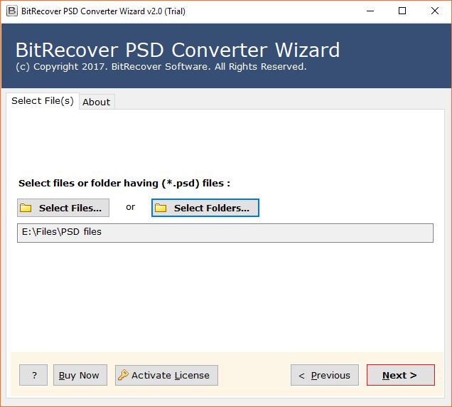 PSD Converter software