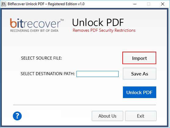 PDF decrypt software