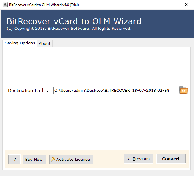 vCard to OLM Wizard