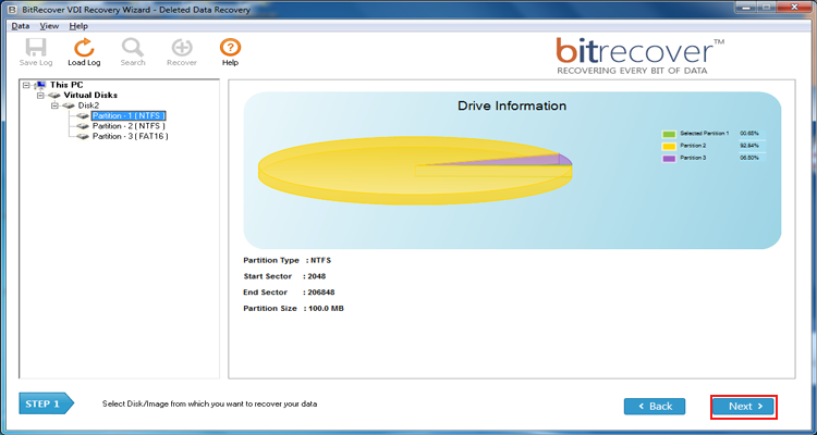 see VDI virtual drive partitions