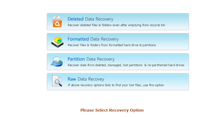 four different recovery modes